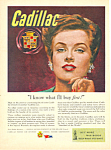 Click here to enlarge image and see more about item adl0011: Cadillac Post WWII Ad 1945 adl0011