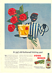 Click here to enlarge image and see more about item adl0014: Four Roses Whiskey Hitching Post Ad adl0014