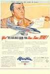 Click here to enlarge image and see more about item adl0016: Martin Aircraft 202 and 303 Propliners Ad adl0016
