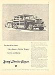 Click here to enlarge image and see more about item adl0017: Jeep Station Wagon Ad 1947 adl0017