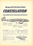 Click here to enlarge image and see more about item adl0021: Lockheed  Constellation  Ad adl0021 1946