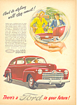 Click here to enlarge image and see more about item adl0025: Ford Motor Company  Ad 1945 adl0025