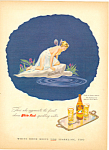 White Rock Sparkling Water  Ad 1945