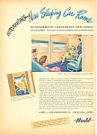 Click here to enlarge image and see more about item adl0027: Budd Railroad Cars  Ad 1945