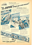 New York Central Railroad Empire  Ad 1945