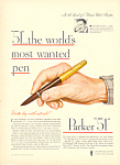 Click here to enlarge image and see more about item adl0036: Parker Pen Parker 51  Ad adl0036 1947