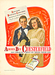 Click here to enlarge image and see more about item adl0037: Chesterfield Perry Como Jo Stafford  Ad 1947