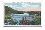 Click here to enlarge image and see more about item apr0557: Suspension Bridge VT Postcard apr0557