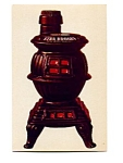 Ezra Brooks Pot Bellied Stove Postcard