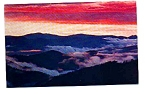 Click here to enlarge image and see more about item apr1160: Clingmans Dome at Sunset Smokey Mountains National Park Postcard apr1160