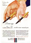 Click here to enlarge image and see more about item apr1751: Parker 51 Demi Size Pen Ad apr17511948