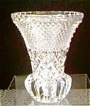 Click here to enlarge image and see more about item apr1872:  Lead 24% Crystal West German Vase