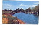 Click here to enlarge image and see more about item apr2857: River Thames at Abingdon UK Postcard apr2857