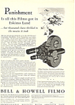 Click here to enlarge image and see more about item as0577: Bell and Howell Filmo Camera Ad as0577