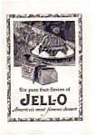 Click here to enlarge image and see more about item auc012305: Jello Dessert Ad 1923