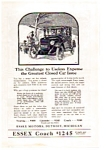 Click here to enlarge image and see more about item auc012307: 1923 Essex Closed Car Ad auc012307