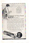 Colgate Ribbon Dental Cream Ad 1923