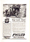 Click here to enlarge image and see more about item auc012311: Philco Auto Battery AD auc012311 1923