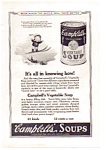 Click here to enlarge image and see more about item auc012313: Campbell's Vegetable Soup AD 1923