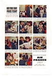 Click here to enlarge image and see more about item auc016101: Air France Epicurean of the Atlantic Ad auc016101