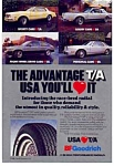 Click here to enlarge image and see more about item auc016115: BF Goodrich T/A Tires Ad 1980