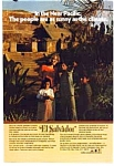 Click here to enlarge image and see more about item auc016116: El Salvador Mayan Temple Ad auc016116 1970s