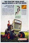Click here to enlarge image and see more about item auc016117: Bolens Husky Tractor Ad 1970s