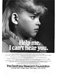 Click here to enlarge image and see more about item auc018402: Deafness Research Foundation Ad