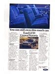 Click here to enlarge image and see more about item auc018403: Ford LTD Crown Victoria Ad auc018403