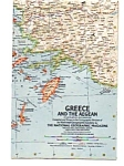 Click here to enlarge image and see more about item auc018413: Greece and the Aegean Map Dec 1958
