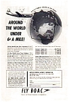 Click here to enlarge image and see more about item auc018422: BOAC Around the World   Ad 1940s