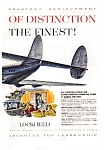Click here to enlarge image and see more about item auc018424: Lockheed Super Constellation   Ad 1940s