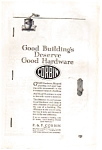 Click here to enlarge image and see more about item auc022317: Corbin Hardware Ad auc022317 1923