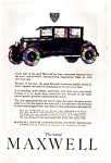 1923 Maxwell Automobile Ad