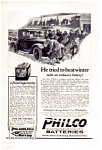 Click here to enlarge image and see more about item auc022321: Philco Automobile Batteries Ad 1923