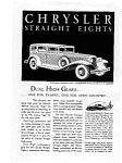 Click here to enlarge image and see more about item auc023106: Chrysler Straight Eights Ad auc023106  Feb 1931