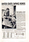 US Savings Bonds Ad 1937