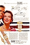 Click here to enlarge image and see more about item auc023721: Elgin Watch Ad 1950s