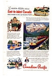 Click here to enlarge image and see more about item auc023722: Canadian Pacific East to West Ad