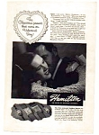 Click here to enlarge image and see more about item auc024605: Hamilton Watch AD Feb 1946