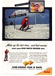 Click here to enlarge image and see more about item auc024606: Cine-Kodak Film is Back Ad auc024606