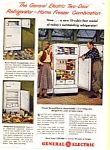 Click here to enlarge image and see more about item auc024615: General Electric Refrigerator Ad 1940s