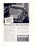 Click here to enlarge image and see more about item auc024621: Remington DeLuxe Electric Typewriter Ad 1940s