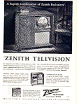 Click here to enlarge image and see more about item auc024624: Zenith TV and Radio Phonograph Ad 1949