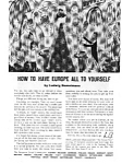 Click here to enlarge image and see more about item auc026106: How to have Europe All to Yourself Ad auc026106