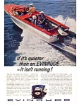 Click here to enlarge image and see more about item auc026107: Evinrude Quiet Running Ad Feb 1961