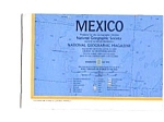 Click here to enlarge image and see more about item auc026124: Mexico Map  May 1973