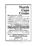 North Cape Cruise Pacific Mail Lines Ad
