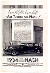 Click here to enlarge image and see more about item auc033403: 1934 Nash Full Line Ad