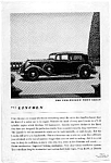 1934 Lincoln Town Sedan Ad auc033409